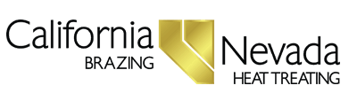 Logo: For vacuum furnace brazing services, or to braze aluminum with Nadcap quality, call California Brazing.