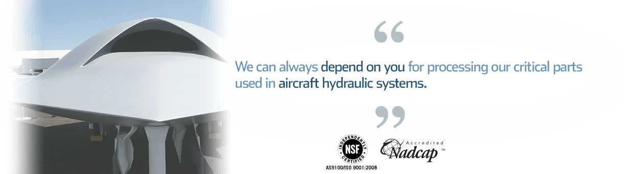 Quote: we depend on you for vacuum brazing services and critical aerospace CNC machined parts used in aircraft hydraulic systems