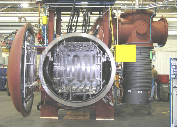 Large Diffusion Pump on a Vacuum Aluminum Brazing Furnace