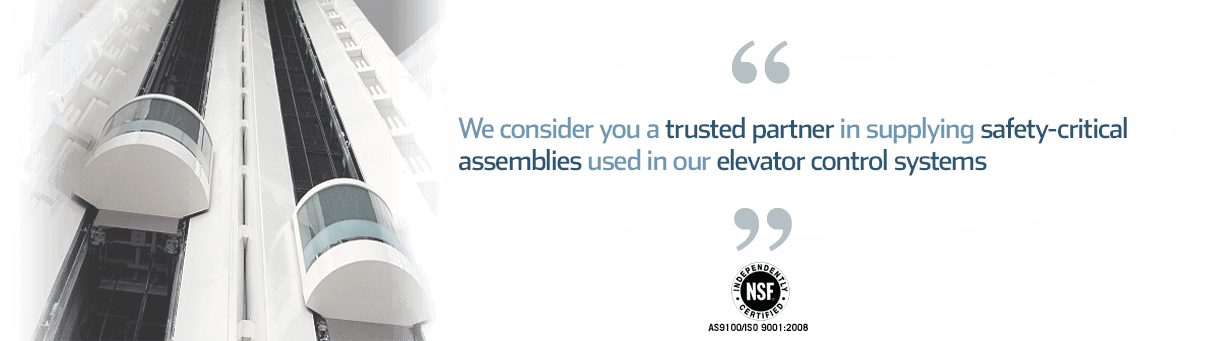 Quote: your expertise in CNC machining and aluminum cold plate assemblies make you a trusted partner in supplying turnkey manufacturing for our elevator control systems